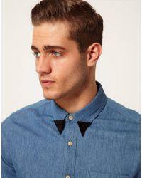 ASOS - Black Asos Spike Collar Tips for Men - Lyst