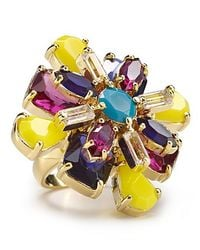 kate spade new york - Multicolor Kaleidoscope Floral Ring - Lyst