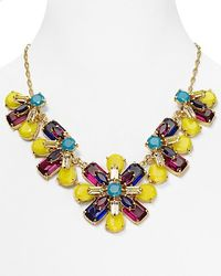 kate spade new york - Multicolor Kaleidoscope Floral Statement Necklace  - Lyst