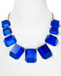 kate spade new york - Blue Jumbo Jewels Graduated Necklace  - Lyst