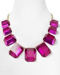 kate spade new york | Purple Jumbo Jewels Graduated Necklace  | Lyst