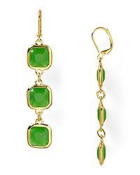kate spade new york - Green Frame Of Mind Drop Earrings - Lyst