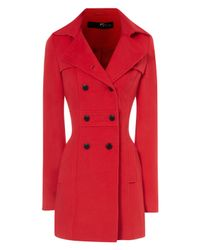 Jane Norman | Red Fitted Flare Coat | Lyst