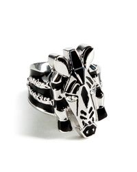 Marc By Marc Jacobs | Metallic Argento Silver Multi Zebra Ring | Lyst