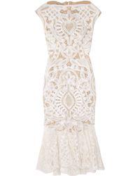 Alexander McQueen | Pink Crochet-embroidered Silk-organza Dress | Lyst