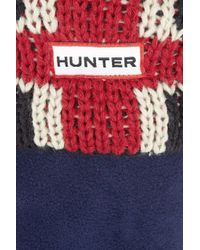 HUNTER - Blue Original Brit Knitted Fleece Socks - Lyst