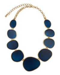 Kenneth Jay Lane | Blue Enamel and Metal Necklace | Lyst