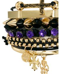 River Island - Metallic Victoriana Spike and Friendship Bracelet Pack - Lyst