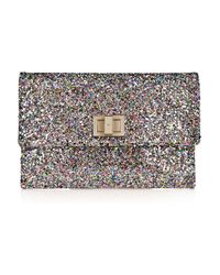 Anya Hindmarch | Multicolor Valorie Glitter-finish Leather Clutch | Lyst