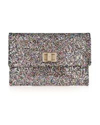 Anya Hindmarch   Multicolor Valorie Glitter-finish Leather Clutch   Lyst