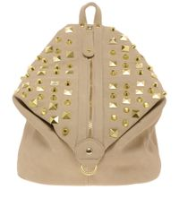 ASOS | Natural Studded Backpack | Lyst