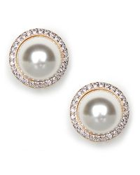 BaubleBar White Pave Pearl Studs