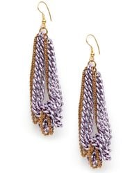 BaubleBar | Pink Purple Drip Chain Earrings | Lyst