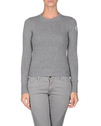 Moncler | Gray Long Sleeve Sweater | Lyst