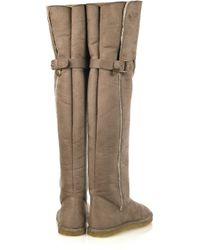Stella McCartney Natural Faux Shearling lined Thigh Boots