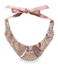 Temperley London - Pink Deco Mirror Necklace - Lyst