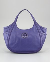 Tory Burch | Purple Hannah Pocket Hobo Bag  | Lyst