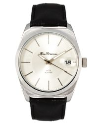 Ben Sherman | Black White Dial Leather Strap Watch for Men | Lyst