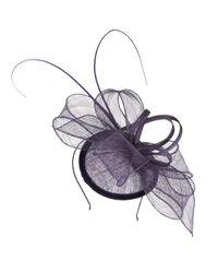 Cc   Purple Petite Aubergine Bow Detail Fascinator   Lyst