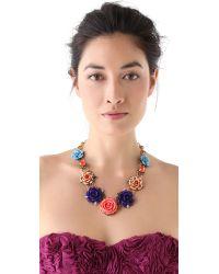 Erickson Beamon - Multicolor Rose Garden Bib Necklace - Lyst
