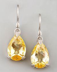 Judith Ripka | Metallic Canary Crystal Teardrop Earrings | Lyst