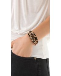 Linea Pelle - Multicolor Haircalf Double Wrap Bracelet - Lyst