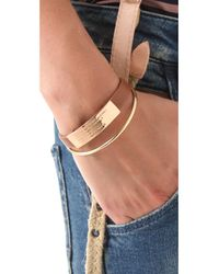Marc By Marc Jacobs | Brown Standard Supply Leather Id Bracelet - Cinnamon Stick | Lyst