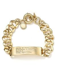 Marc By Marc Jacobs | Metallic Standard Supply Id Bracelet | Lyst