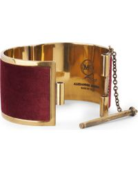 McQ - Purple Brass Cuff - Lyst