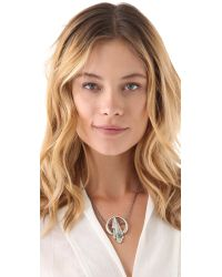 Pamela Love | Metallic Keyhole Necklace | Lyst