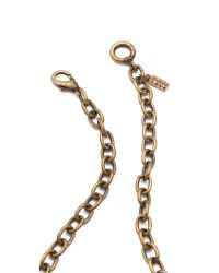 Pamela Love - Blue Crystal Cross Necklace - Lyst