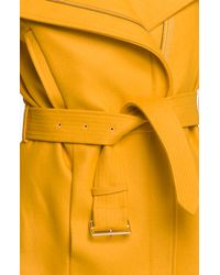 Ted Baker   Yellow Funnel Neck Wool Blend Jacket   Lyst