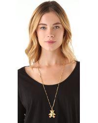 Tuleste - Metallic Bear Pendant Necklace - Lyst
