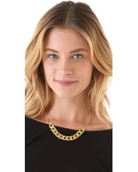 Vanessa Mooney - Metallic Chunky Chain Necklace - Lyst