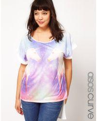 ASOS Purple Tee in Galaxy Unicorn Print
