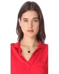 Ginette NY - Black Moon Onyx Necklace - Lyst