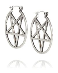 Pamela Love | Metallic Antique Silver Mini Pentagram Earrings | Lyst
