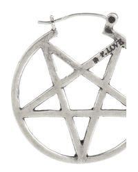 Pamela Love   Metallic Antique Silver Mini Pentagram Earrings   Lyst