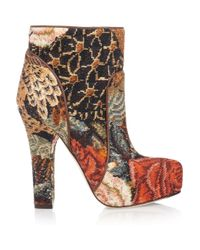 Dolce & Gabbana | Multicolor Tapestry Ankle Boots | Lyst