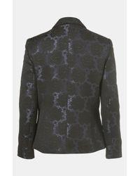 Topshop | Blue Floral Jacquard Tux Blazer | Lyst