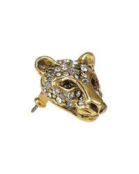 Elizabeth Cole | Metallic 24karat Goldplated Swarovski Crystal Jaguar Earrings | Lyst