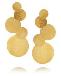 Herve Van Der Straeten | Metallic Goldplated Disc Clip Earrings | Lyst