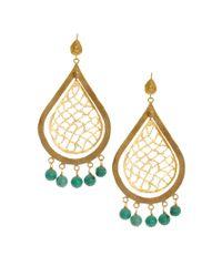 Aryn K. - Blue Ottoman Hands Drop Tassel Earrings - Lyst