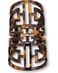 Tory Burch | Brown Labyrinth Cuff | Lyst