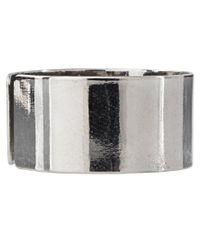 ASOS - Metallic Pack Of Three Plain Band Rings - Lyst
