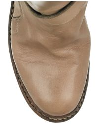 Burberry - Brown Buckled Leather Ankle Boots - Lyst
