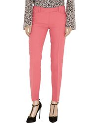 Emilio Pucci - Pink Wool and Silk-blend Twill Straight-leg Pants - Lyst