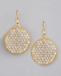 kate spade new york - Metallic Bright Spot Crystal Drop Earrings - Lyst