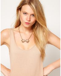 ASOS - Metallic Glasses Pendant Necklace - Lyst