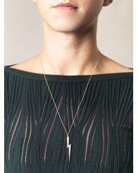Ileana Makri - Metallic Diamond Gold Thunderbolt Necklace - Lyst